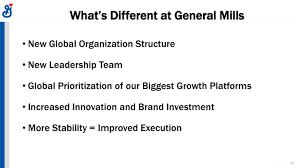 General Mills Organizational Structure Chart General Mills Gis Investor Presentation Slideshow