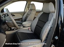 installed exotic front seat covers medium gray