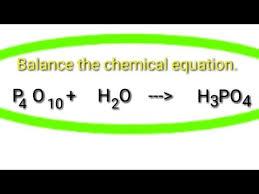 chemical equation p4o10 h2o h3po4