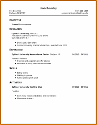5 First Time Resume Examples With No Experience West Of Roanoke