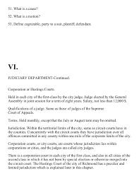 civil government of virginia constitutional law