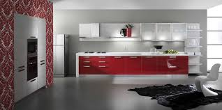 Red Kitchen Furniture Design Magnificent Extraordinary Red Cabinets In Kitchen And