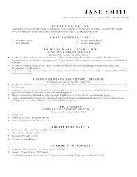 Career Objectives On A Resume Paknts Com