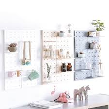 wall hanging storage shelf in white