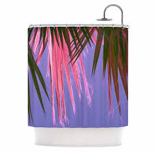 kess inhouse ann barnes neon jungle purple green shower curtain