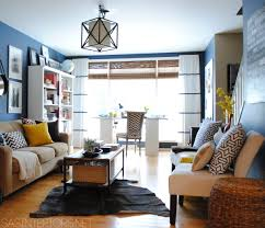 family home office. home office family room reveal with navy walls u0026 yellow accents by jenna_burger via