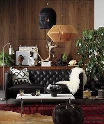 savile leather tufted apartment sofa