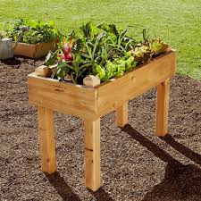 fabulous wooden raised garden bed kits natural cedar raised garden elevated raised garden beds
