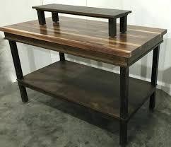 wood glass top display coffee table tiered produce bin storage slanted