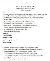 Entry Level Teacher Resume From Teacher Resume Sample 32 Free Word