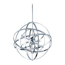 maxim lighting mid century modern pendant cer light chrome sputnik by maxim lighting 25133pc