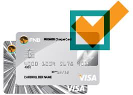 fnb premier cheque account fnb fusion premier card and credit card