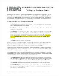 Writing A Business Letter Typical Format Proper Pepino Co