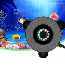 12 Led Submersible Aquarium Bubble Light Air Stone Fish Tank Pump Lamp Remote Control