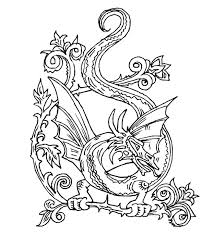 Small Picture Fancy Dragon Coloring Pages For Adults 87 About Remodel Coloring