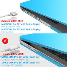 iBenzer MacBook Pro 13 Inch Case 2012-2015 Soft Touch Hard Case Shell Cover  with Keyboard Cover for Apple MacBook Pro 13 with Retina Display A1425 1502  MMP13R-CL+1 Clear Office Products Bags, Cases