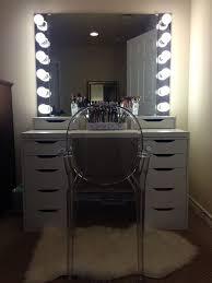 diy ikea vanity with lights makeup organizationmakeup storagealex