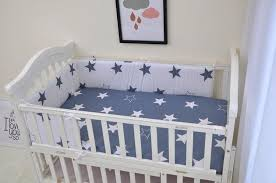 baby bedding set 100 cotton dark blue star and white star design baby duvet cover