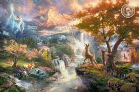 thomas kinkade signed and numbered limited edition disney dreams collection giclee print on paper and embellished