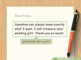 Thank You Notes How To Write A Thank You Note 9 Steps With Pictures Wikihow