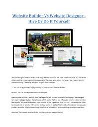 Crocker Web Design Website Builder Vs Website Designer Hire Or Do It Yourself
