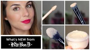 new from kat von d lock it concealer créme powder brushes review bailey b you