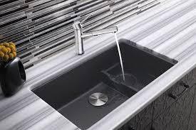 Blanco 519451 Precis Cascade Super 18 Inch Undermount Single Bowl Kitchen  Sink In Cinder Blanco Cinder Sink C14