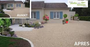 idée aménagement extérieur entrée maison