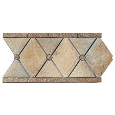 Listellos And Decorative Tile 100 x 100 Natural Stone Empire MultiSpecialty Jeffrey Court Tile 38