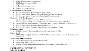 Java Resume Example Sample India Developer For Fresher Curriculum