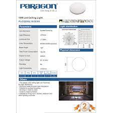 Đèn LED Ốp Trần Paragon PLCQ355L18 – 18W - Ánh Sáng Vàng/ Trung Tính/  Trắng. Hàng Chính Hãng - HIBUDDY
