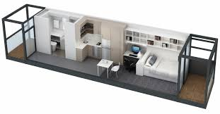 Small One Bedroom Apartments Apartment 3d Small Modern One Bedroom Apartment Using Twin Sized