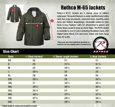 Field Jacket Size Chart Surplus Nation