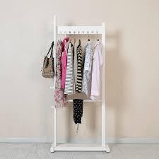 Cheap Standing Coat Rack Modern Wooden Coat Hanger Clothes Stand Birch Wood 100x1100cm Living 48