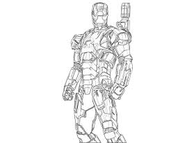 Small Picture Iron Man War Machine Mark 2 Coloring Coloring Pages