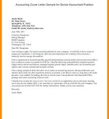 Entry Level Accounting Job Cover Letter Cover Letter Sample For