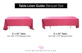 Tablecloth For 8 Foot Table Lets Talk Linens The Ultimate Guide To Linen Sizes Party