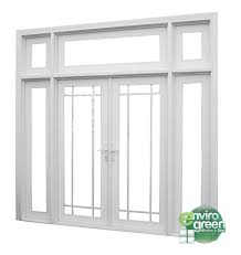 Single Patio Door With Side Lights French Door Envirogreen - Exterior transom window
