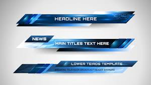 Banners And Lower Thirds For News Channel Vector Premium