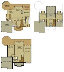 Basement House Plans Designs Mountain Floor Plan Loft And Walkout Basement Architectures