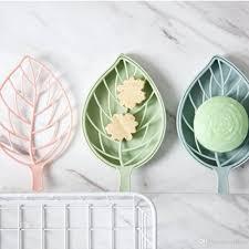 Großhandel Doppelwand Kunststoff Blatt Form Seifenschalen