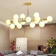 Fandian <b>Post</b>-<b>Modern</b> Chandelier 16 Round Glasses LED Ceiling ...