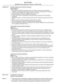 Compliance Testing Officer Resume Samples Velvet Jobs