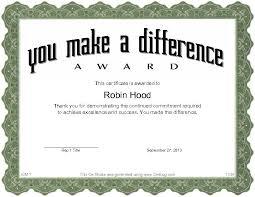 Make A Award Certificate Rome Fontanacountryinn Com