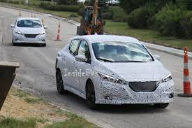 2018 nissan leaf pictures. plain nissan 2018 nissan leaf spotted in the wild with a lot less camo in nissan leaf pictures