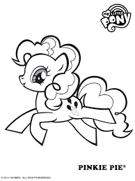 pinkie pie coloring pages with my little pony coloring pages