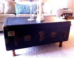 ... Black Rectangle Wooden Vintage Trunk Coffee Table Designs To Complete  Your Living Room Decoration ...