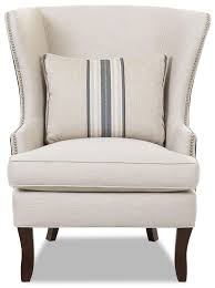 Accent Wingback Chairs Chairs And Accents Krauss Accent Chair By Klaussner Decorating
