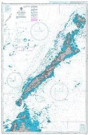 British Admiralty Nautical Chart 967 Palawan Attractions