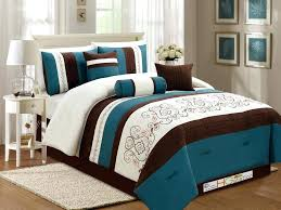 brown and teal bedding sets teal and brown bedding sets 7 fl scroll damask embroidery piping brown and teal bedding